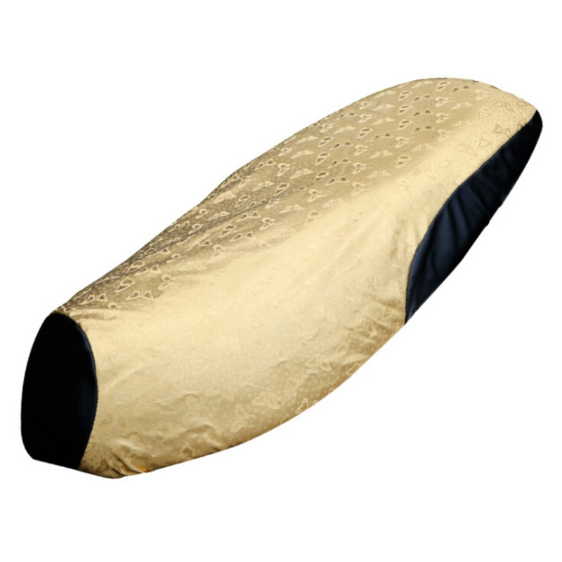 Motorcycle Seat Cover Waterproof Sun Insulation Scooter Seat Cushion Protect Gold