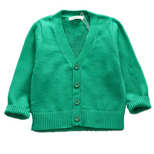New Kids Autumn Winter Sweater Baby Boys Girls Cardigan Tops Children V-Neck Long Sleeve Christmas Causal Clothes цены онлайн