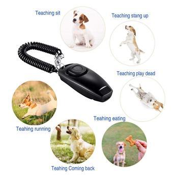 2 pack clicker gwizdek dla psów aby zatrzymać szczekanie szkolenia psów clicker gwizdek dla psów clicker 2 w 1 upgrade sprzęt treningowy z nadgarstkiem tanie i dobre opinie Pies Gwizdki