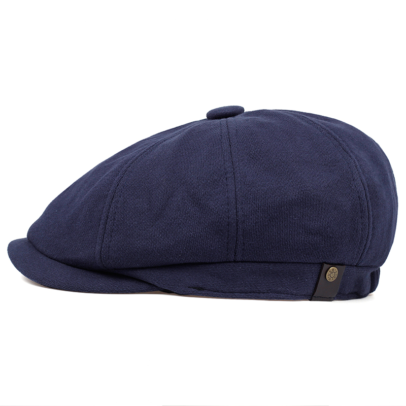 2019 Newsboy Cap Men's Twill Cotton Eight Panel Hat Women's Baker Boy Caps Retro Big Large Hats Male Boina Black Beret
