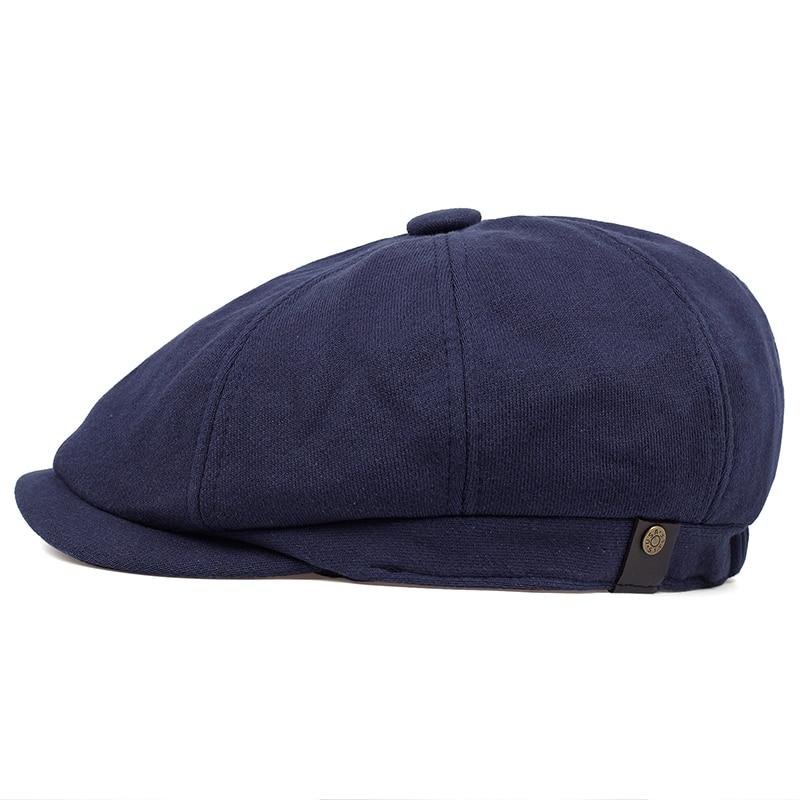 2019 Newsboy Cap Men's Twill Cotton Eight Panel Hat Women's Baker Boy Caps Retro Big Large Hats Male Boina Black Beret