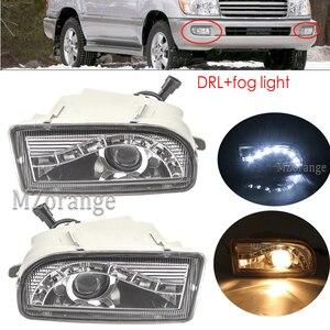 headlights Front fog lamps LED Driving Lamp DRL day light For TOYOTA LAND CRUISER 100 1998-2008 4700 LC100 UZJ100 FZJ100 HDJ100