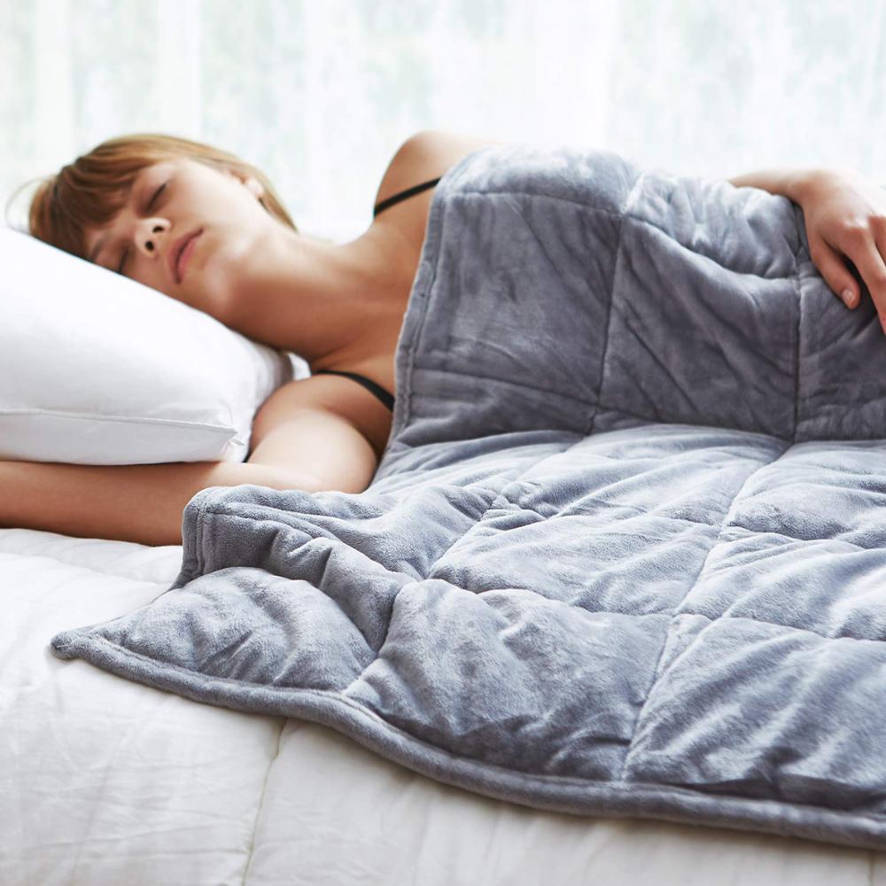 7/9KG couverture pondérée profonde Relax couette 100% couette à la main avec une bonne housse de couette de gravité de sommeil pour le remplissage de couverture d'hiver
