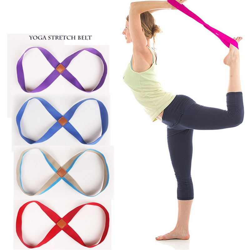 Yoga Exercise Resistance Band Practical Eight-Loop Durable Stretching Band Loop Gym Pilates Fitness Resistance Bands