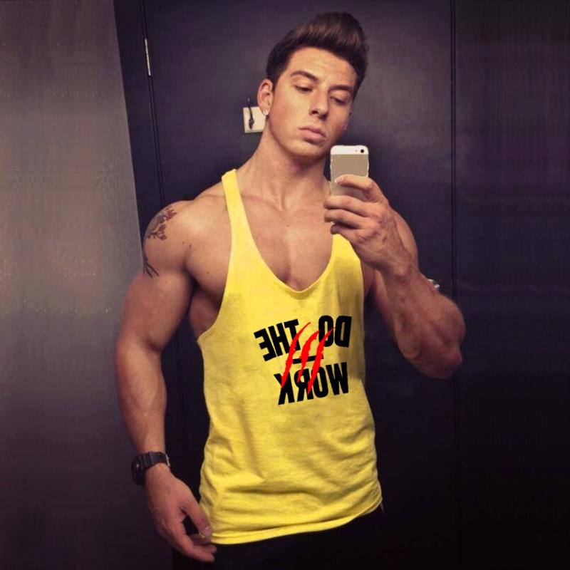 Брендовая одежда для фитнеса или бодибилдинга, Мужская мышечная жилетка, летняя рубашка без рукавов с буквенным принтом, майка для спортзал...