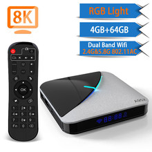 A95X F3 Air 4 Gb 64 Gb Rgb Licht Android 9.0 Smart Tv Box Europa Griekenland M3u Tvip Iptv Stalker uk Italië Frans Nederlands Turkije Rusland(China)