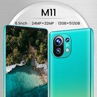 Smartphone Xiomi M11 512gb 6.1 pollici Smart Phone sbloccato 5g cellulari 5200mAh cellulare Android 10 Celular versione globale