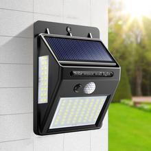 Ao ar livre led solar lâmpada de parede luz da noite pir sensor movimento auto on/off caminho varanda rua jardim iluminação segurança à prova dwaterproof água