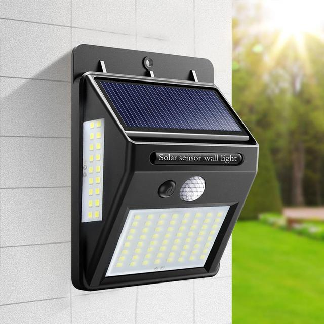 Outdoor LED Solar Wall lamp Night light PIR Motion Sensor Auto ON/Off Waterproof Porch Path Street Garden Security lighting
