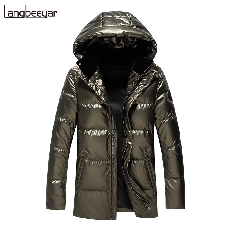 Top Grade 90% Duck   Down   2019 Winter Fashions Brand   Down   Jacket Men Streetwear Feather   Coats   Hooded Light Jacket Warm Men Clothes