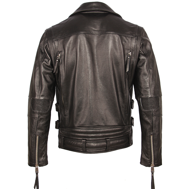Vintage Motorcycle Jacket Slim Fit Thick Men Leather Jacket 100 Cowhide Moto Biker Jacket Man Leather Vintage Motorcycle Jacket Slim Fit Thick Men Leather Jacket 100% Cowhide Moto Biker Jacket Man Leather Coat Winter Warm M455