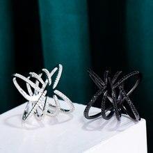 GODKI – bague de luxe à griffes d'araignée pour femmes, avec pierres en zircone, bijoux de fête de fiançailles, haute qualité, 2021
