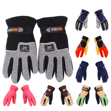 Winter Fleece Gloves Windproof Warm Outdoor Fishing Full Finger