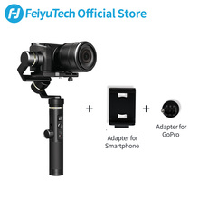 лучшая цена FeiyuTech G6 Plus 3-Axis G6P Handheld Gimbal Stabilizer for Mirrorless Camera GoPro Smart phone Payload 800g Feiyu G6P