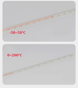 Image 5 - alcohol red liquid glass thermometer red water thermometer glass rod thermometer bar table water temperature meter