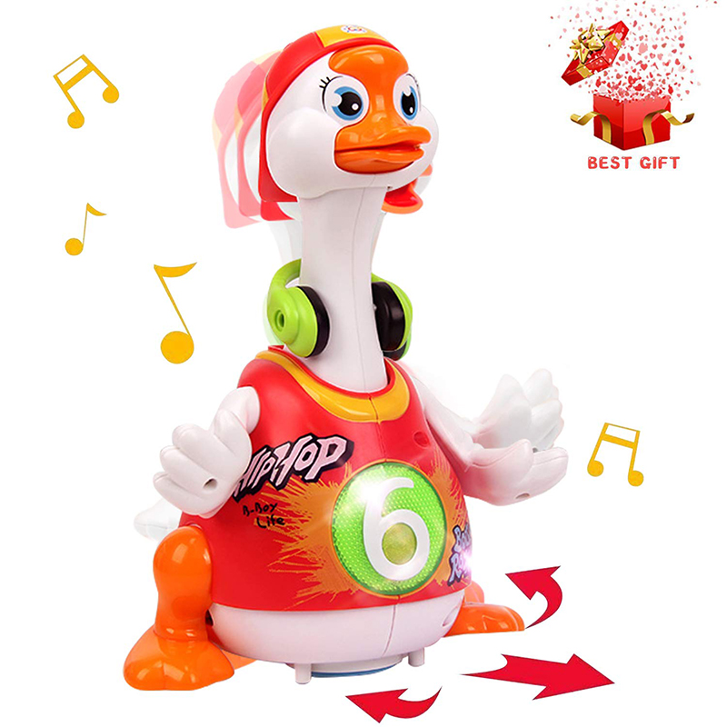 HOLA 828 Electronic Toy For 1 Year Old Toddlers Hip-hop Dancing Goose Musical Toy For Babies 13-24 Months Toys For Children Kids