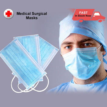 Surgical Medical Masks Professional Disposable Mask Surgical 3-Ply Nonwoven Filter Meltblown Cloth Elastic Earloop Face Masks