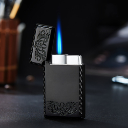 2020 New 1300C Blue Flame Butane Turbo Lighter Square Mini Gas Lighter Metal Lighters Smoking Accessories Cigarettes Lighters