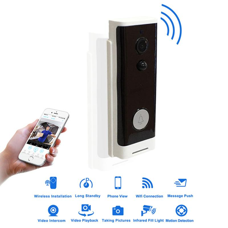 2019 New Smart WiFi Video Doorbell Camera 720P Wireless Intercom Remote Monitoring System