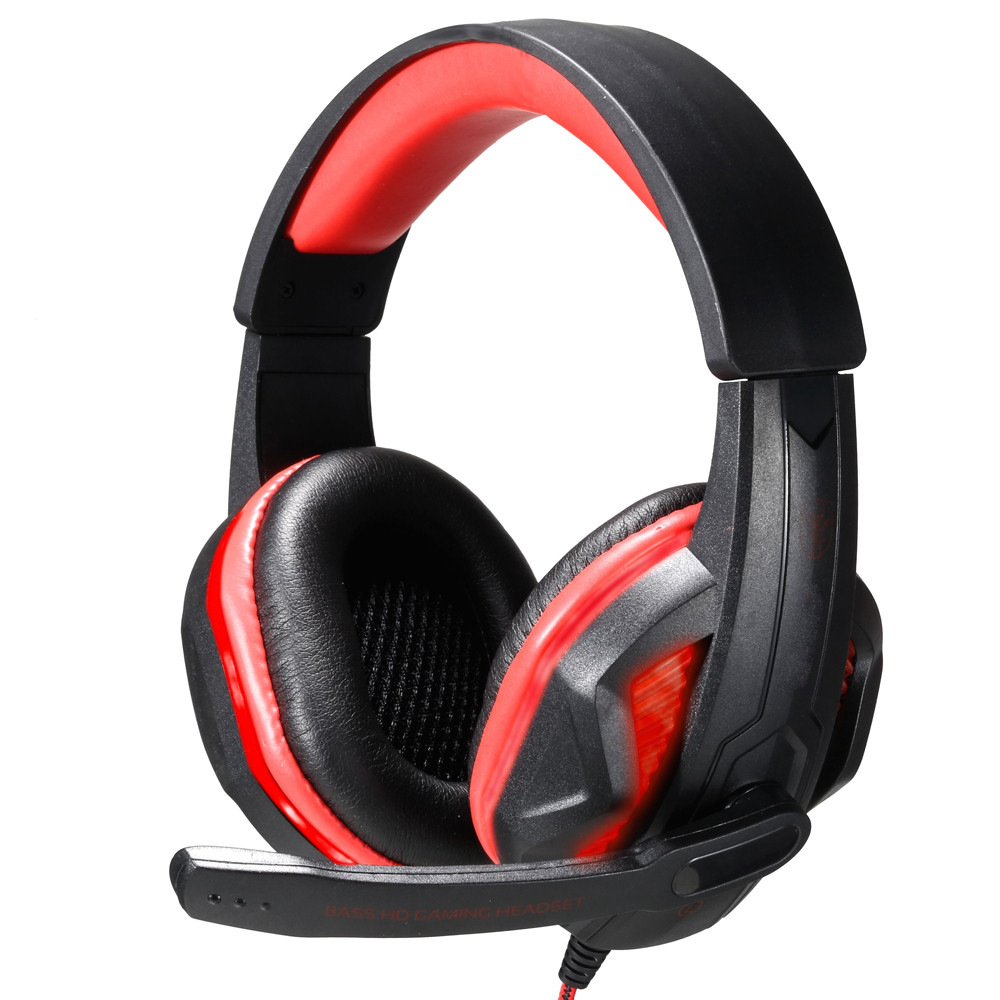 mosunx 3.5mm gaming headset wired headset stereo noise reduction headset computer game console headset with microphone headset