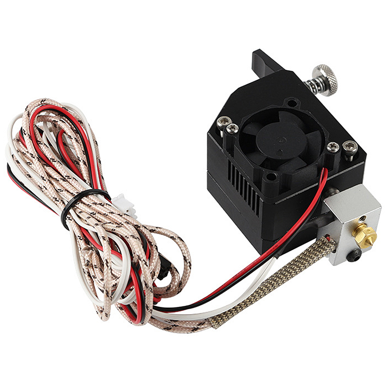 12V/24V 50W Dual Gear NF All Metal Bmg Extruder Bowden Dual Drive Extruder NTC100K Type for 3D Printer Mk8 Cr-10 Prusa I3 Mk3