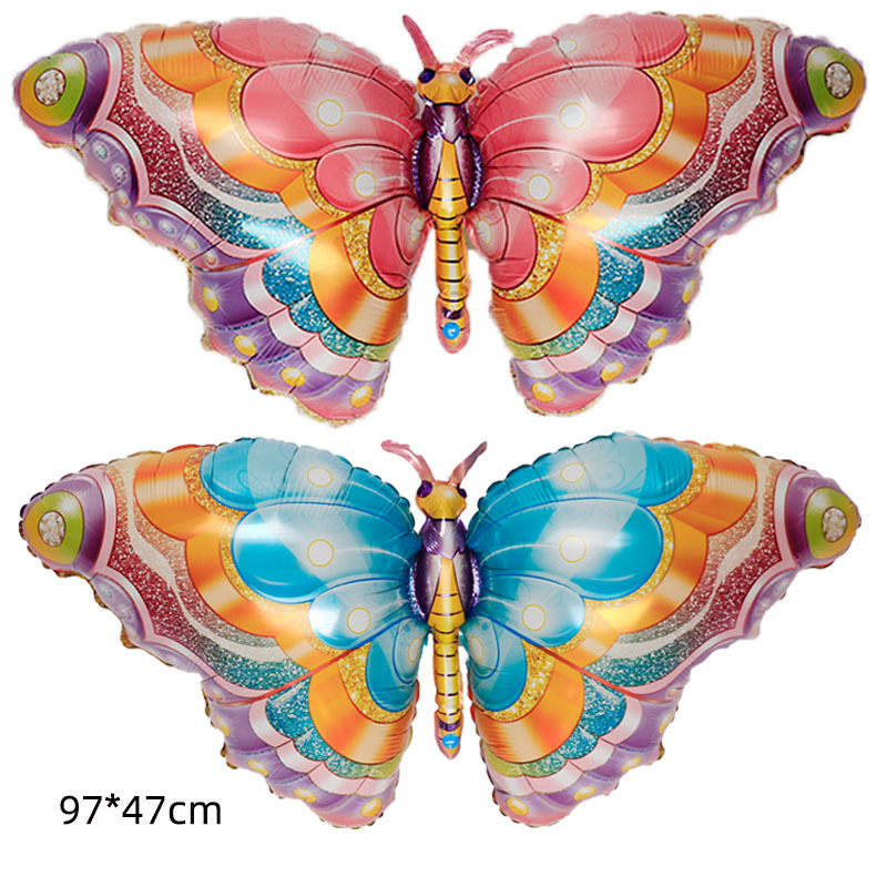 Butterfly balloon large color butterfly birthday one year old party aluminum foil balloons can float empty wholesale
