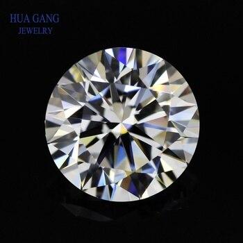 Moissanite 1 carat d color round brilliant cut moissanite stone beads 6,5mm vvs1 Εξαιρετική βαθμολογία κοπής Θετικό εργαστήριο diamond
