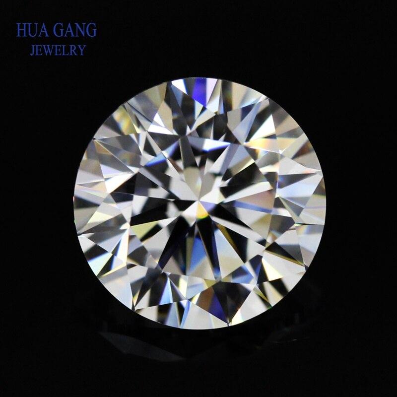1ct Moissanite Round Brilliant Cut D Color Stone Beads 6.5mm VVS1 Excellent Cut Grade Test Positive Lab Diamond Gemstone
