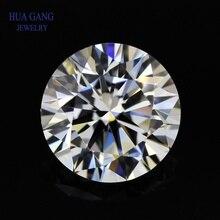 Moissanite 1 Carat D Color Round Brilliant Cut Moissanite Stone Beads 6.5mm VVS1 Excellent Cut Grade Test Positive Lab Diamond