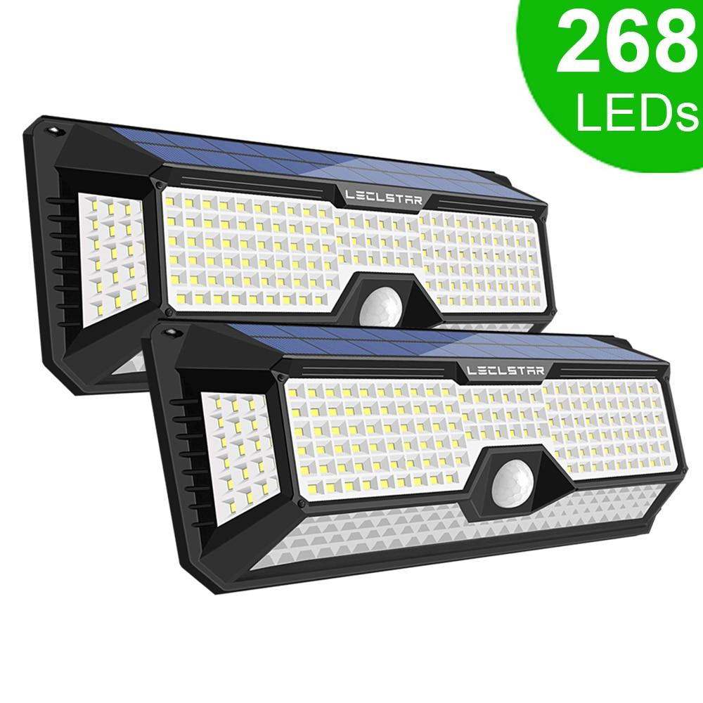 268 LED Solar Street Light For Home Garage Garden Light Solar Powered Wall Street Lamp With Motion Sensor Solar Light Waterproof