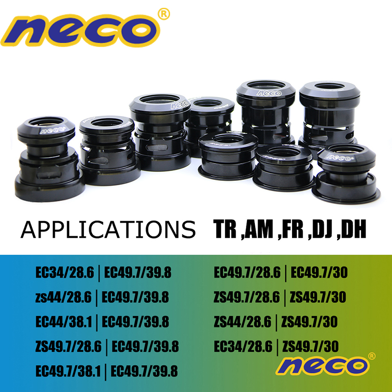 NECO bearing headset 49 50 49.5 49.7 mm 1.5 for Tapered Straight fork downhill mtb dh Headsets Road Bike Bicycle