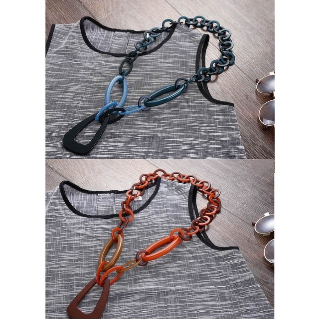 модное удлиненное ожерелье женские ювелирные изделия в стиле фотография