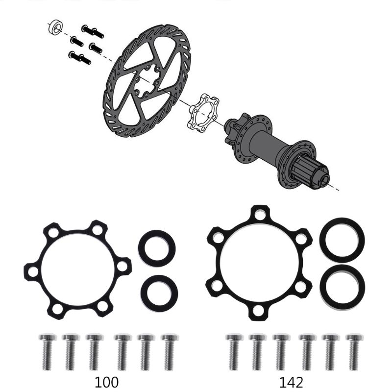 Alloy Cycling Bike Bicycle Boost Hubs 100 to 110mm/142 to 148mm Conversion Rear Front Hub Adapter Conversion(China)
