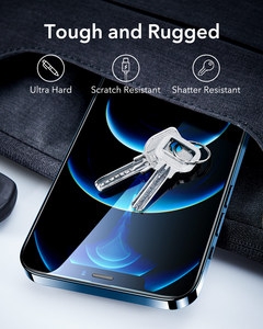 Image 2 - Esr iPhone 12 pro max用のタフレンズ付き保護ガラス,強化ガラス,フルカバー,2個