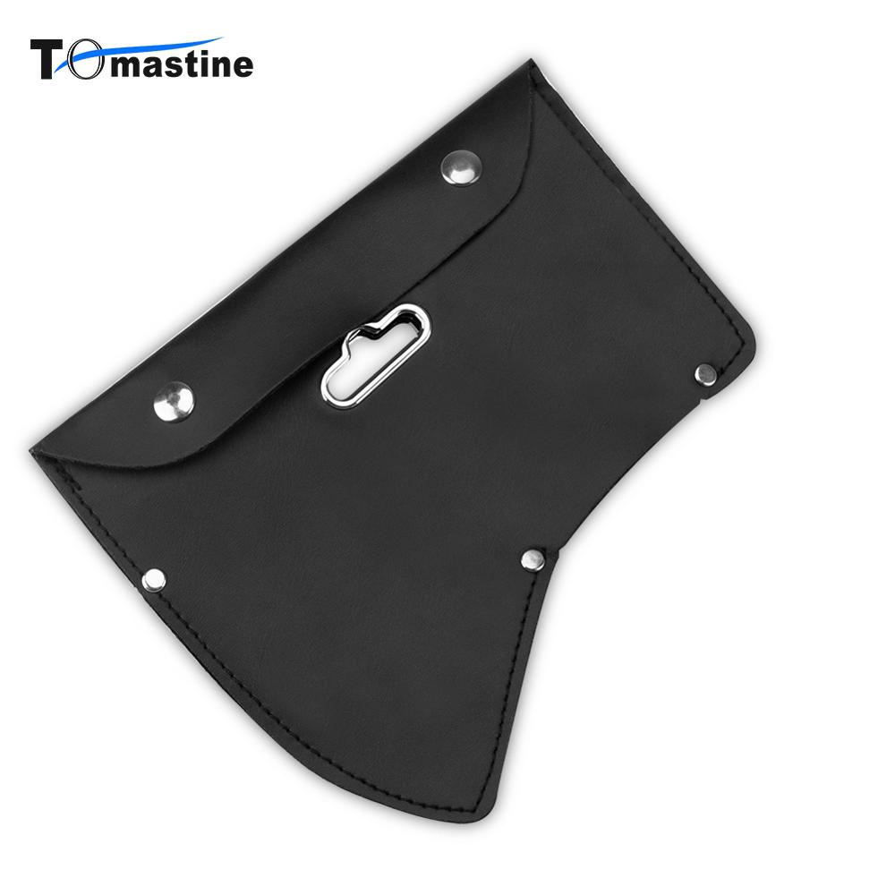 1 PCS Snap Closure Axe Cover Blade Protection Leather Tool Bag Black Hanging Waistband Hand Tool Parts Bag With Hook Hole