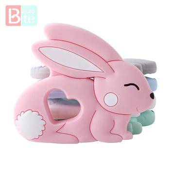 10 sztuk 5 sztuk silikonowy królik gryzak Food Grade Bunny gryzak pielęgnacja ząbkowanie naszyjnik akcesoria dziecko gryzak Freeship zabawka dla dziecka tanie i dobre opinie bite bites Pojedyncze załadowany Lateksu Nitrosamine darmo Ftalanów BPA za darmo 4-6 miesięcy PGJ0112 Zwierząt Innych