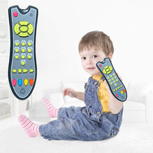 Kids Baby Toys Musical TV Remote Control Toy Lights Sounds Early Educational Toys Electrical Numbers Remote Learning Machine Toy(China)