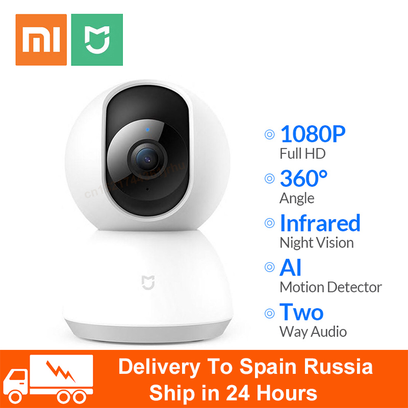 Original Xiaomi Mijia 1080P WIFI Smart IP Camera Webcam Camcorder 360 Angle Panoramic Wireless Night Vision AI Enhanced Motion