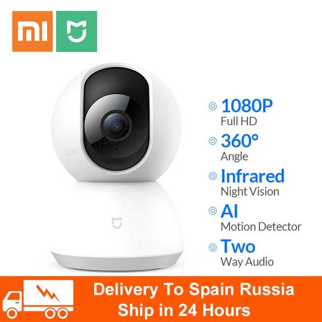 Videocamera originale Xiaomi Mijia 1080P WIFI Smart IP Webcam videocamera 360 angolo panoramica Wireless visione notturna AI movimento avanzato
