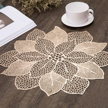 Mat Tabl Stand Mug Coaster Placemat for Kitchen Dining Table Simulation Plant PVC Decorative Pad Coasters Home Decor