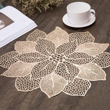 Mat Tabl Stand Mug Coaster Placemat for Kitchen Dining Table Simulation Plant PVC Table Mat Decorative Pad Coasters Home Decor(China)