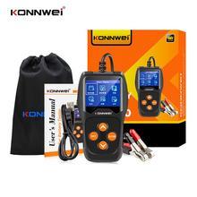 12v 24v car battery tester quick cranking tester alternator 7 led light display auto diagnostic tools 24 volts battery analyze KONNWEI KW600 Car Battery Tester 12V 100 to 2000CCA 12 Volts Battery tools for the Car Quick Cranking Charging Diagnostic
