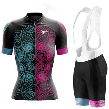 VEZZO-ropa de ciclismo de equipo profesional para mujer, ropa de ciclismo de...