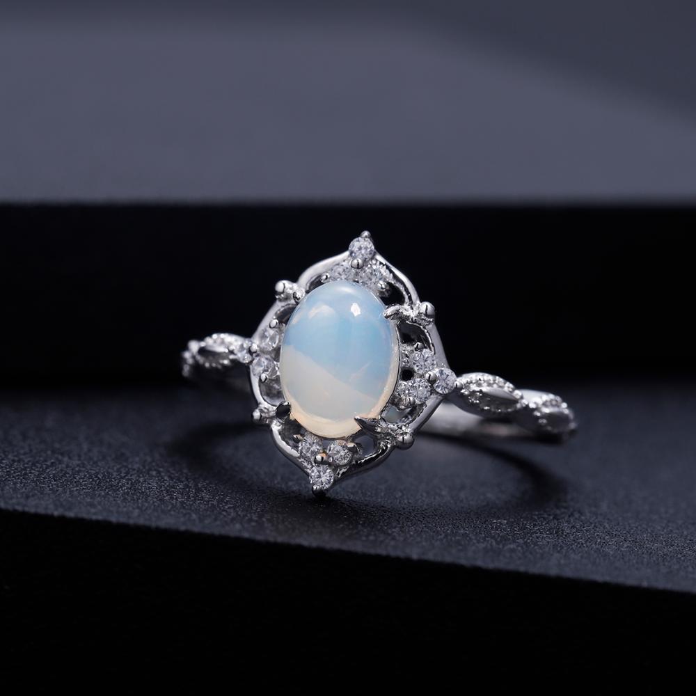Image 4 - Женское Обручальное Кольцо GEMS BALLET, ювелирное изделие из  натурального африканского опала, серебро 925 пробыКольца   -
