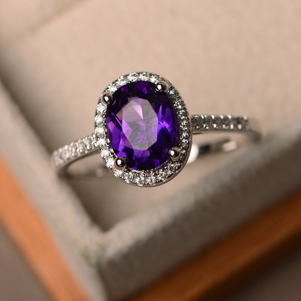 Trendy Brand  CZ 925 silver Ring Big Square Sky Blue green purple black Stone Rings For Women Jewelry Wedding Gift Rings 1