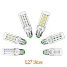 Lámpara de araña E14, 3W, 5W, 7W, 9W, 12W, 15W, Bombilla G9 para el hogar, CA de 220V, E27, Bombilla LED tipo mazorca, B22, LED, Chip 5730, ahorro de energía