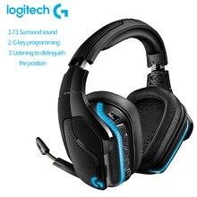 Logitech G933Sไร้สายหูฟังสำหรับเล่นเกม7.1 Surround RGB DTSหูฟังX Dolbyการเชื่อมต่อแบบDualสำหรับแล็ปท็อปPC Gaming Gamer