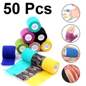 50Pcs Disposable Non-wove Elastic Self Adhesive Bandage Tattoo Accesories Permanent Makeup Bandage Tightening Wrap Sport  Tape 1