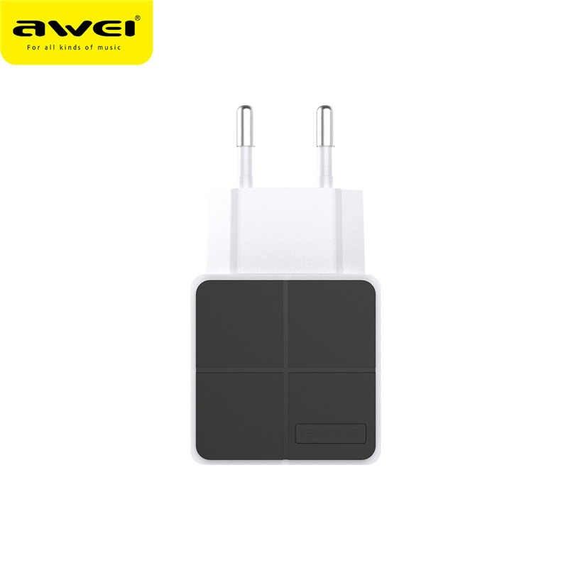AWEI المزدوج USB شاحن الهاتف شحن سريع 5 فولت/2.4A الاتحاد الأوروبي سريعة جدار الهاتف مهايئ لشاحن الاتحاد الأوروبي التوصيل الصغير آيفون 11 سامسونج شاومي