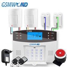433MHz Wireless GSM Alarm System Englisch Russisch Spanisch Französisch Italienisch Sprache Verdrahtete Motion Detektor Alarm Wired Tür Sensor